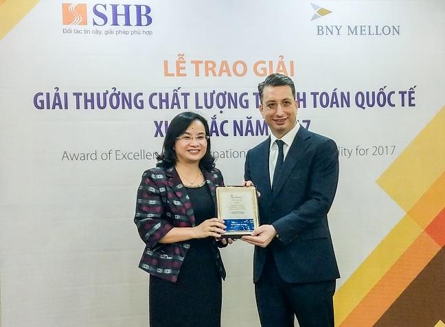Ngân hàng SHB giành giải thưởng về chất lượng quốc tế 2018
