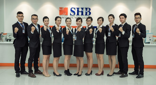 Đội ngũ nhân viên trẻ trung chuyên nghiệp của SHB