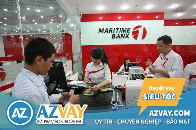 lãi suất, điều kiện, thủ tục đáo hạn Maritimebank