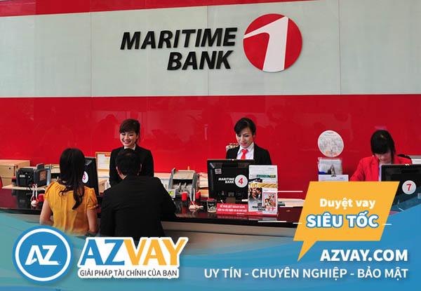 điều kiện, thủ tục, lãi suất vay thế chấp sổ đỏ Maritimebank