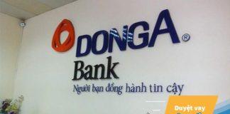 Lãi suất vay mua xe ô tô ngân hàng Đông Á