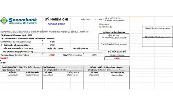 Mẫu ủy nhiệm chi ngân hàng Agribank