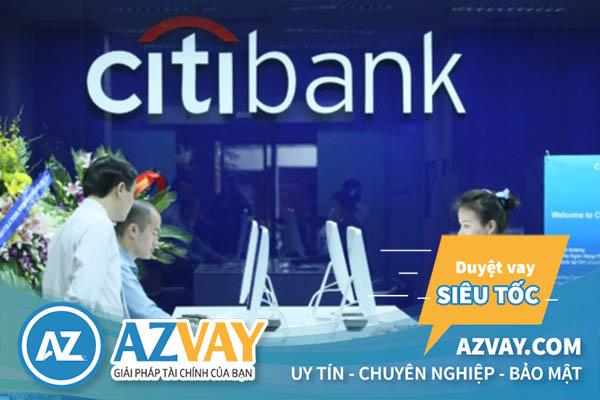 Sản phẩm vay tín chấp theo lương ngân hàng Citibank