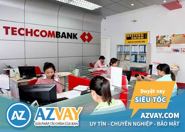 Vay tín chấp theo lương tiền mặt ngân hàng Techcombank
