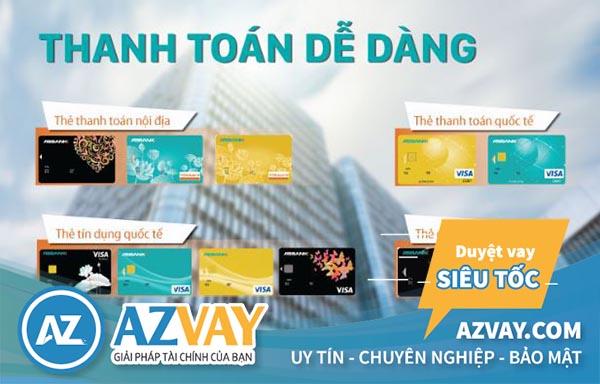 Các loại thẻ tín dụng ngân hàng ABBank