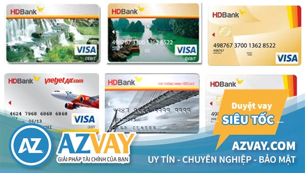 Các loại thẻ tín dụng HDBank đang phát hành