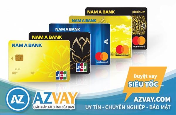 Các loại thẻ tín dụng ngân hàng Nam Á