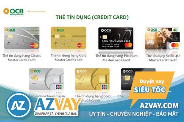 Các loại thẻ tín dụng OCB