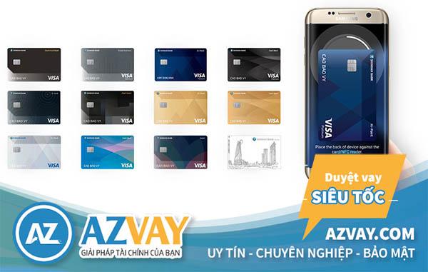 Một số loại thẻ tín dụng Shinhanbank