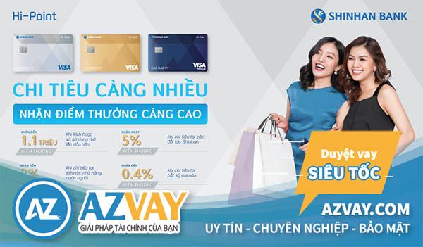 làm thẻ tín dụng shinhan