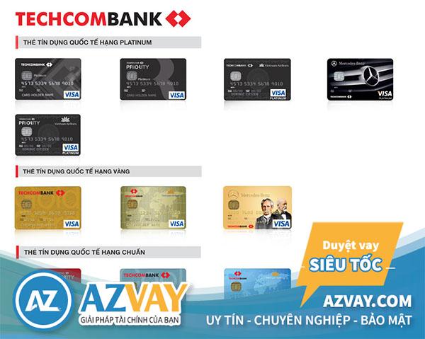 làm thẻ tín dụng techcombank