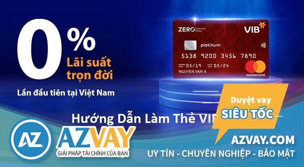 mở thẻ tín dụng vib