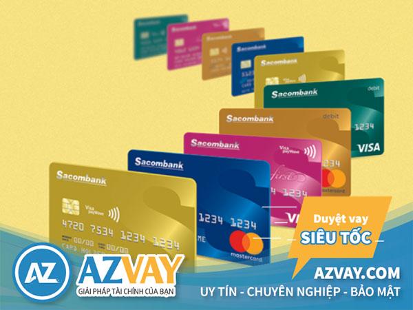 Các loại thẻ tín dụng Sacombank