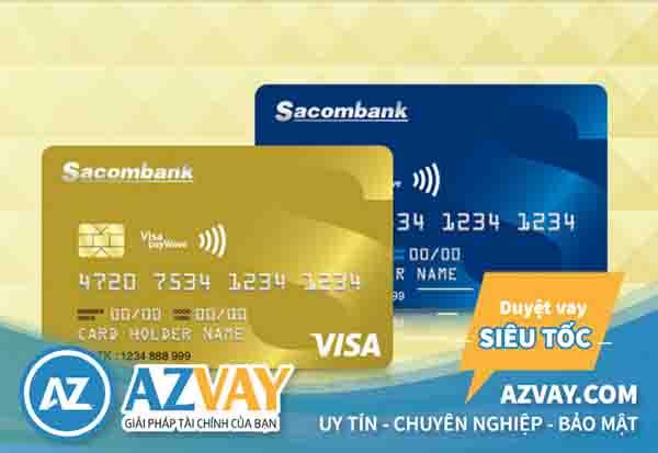 Mở thẻ tín dụng qua lương tiền mặt Sacombank