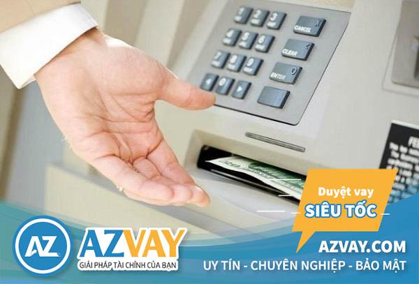 Rút tiền từ thẻ tín dụng BIDV trực tiếp tại cây ATM