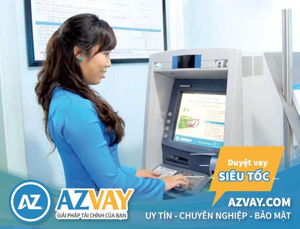 rút tiền thẻ tín dụng Eximbank tại ATM