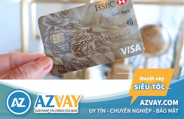 Khách hàng có thể rút tiền mặt qua thẻ tín dụng HSBC