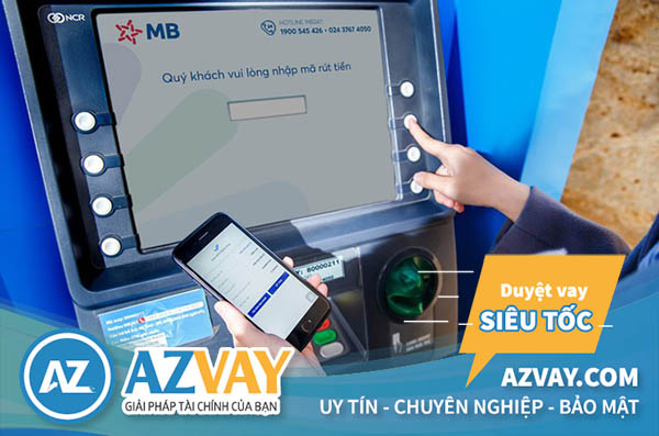 Rút tiền thẻ tín dụng MBBank tại cây ATM