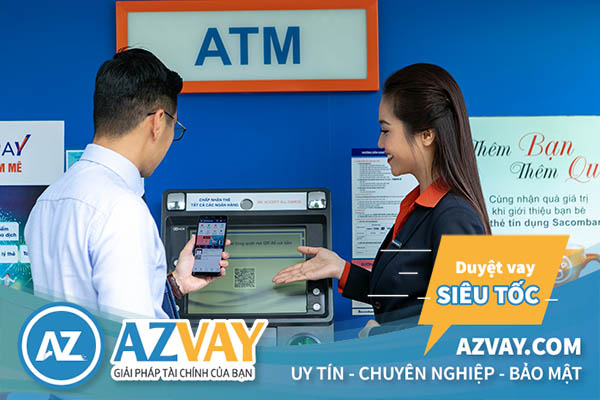 Rút tiền thẻ tín dụng Sacombank tại cây ATM