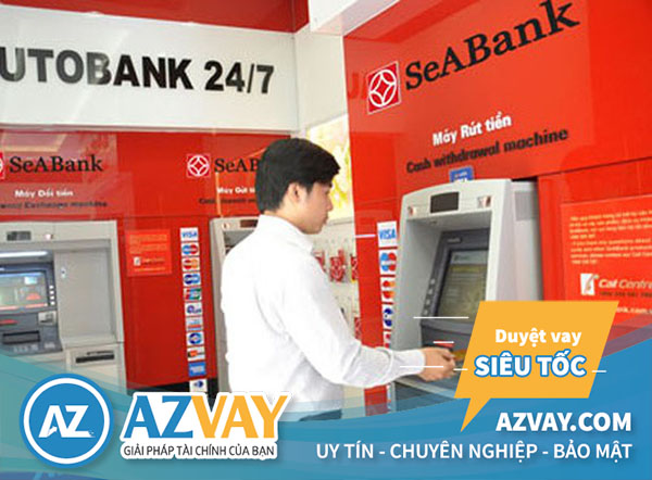 Rút tiền thẻ tín dụng ngân hàng SeABank tại ATM