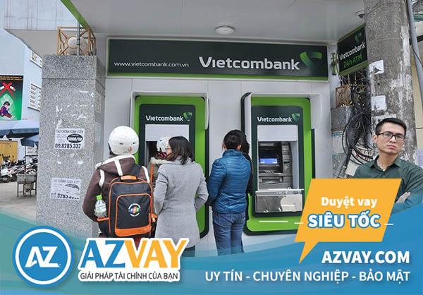 Có thể rút tiền qua thẻ tín dụng Vietcombank tại ATM