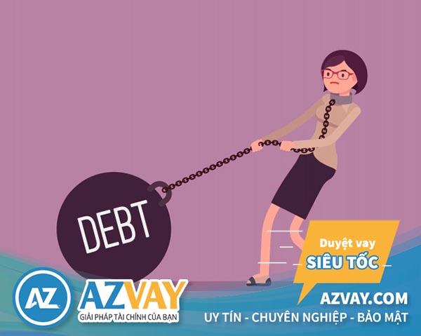 Khi vay tiền thẻ tín dụng nếu trả chậm hoặc không trả sẽ bị ngân hàng đưa vào tình trạng nợ xấu