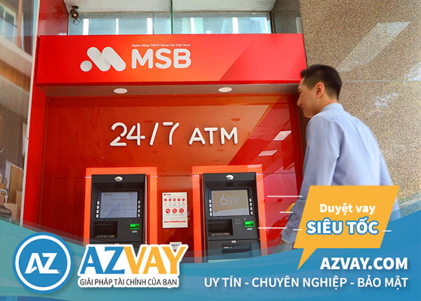 Rút tiền thẻ tín dụng MSB tại cây ATM