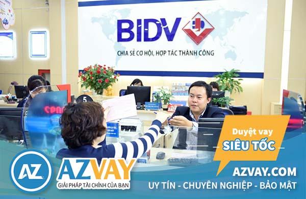 Vay tiền theo bảng lương ngân hàng BIDV